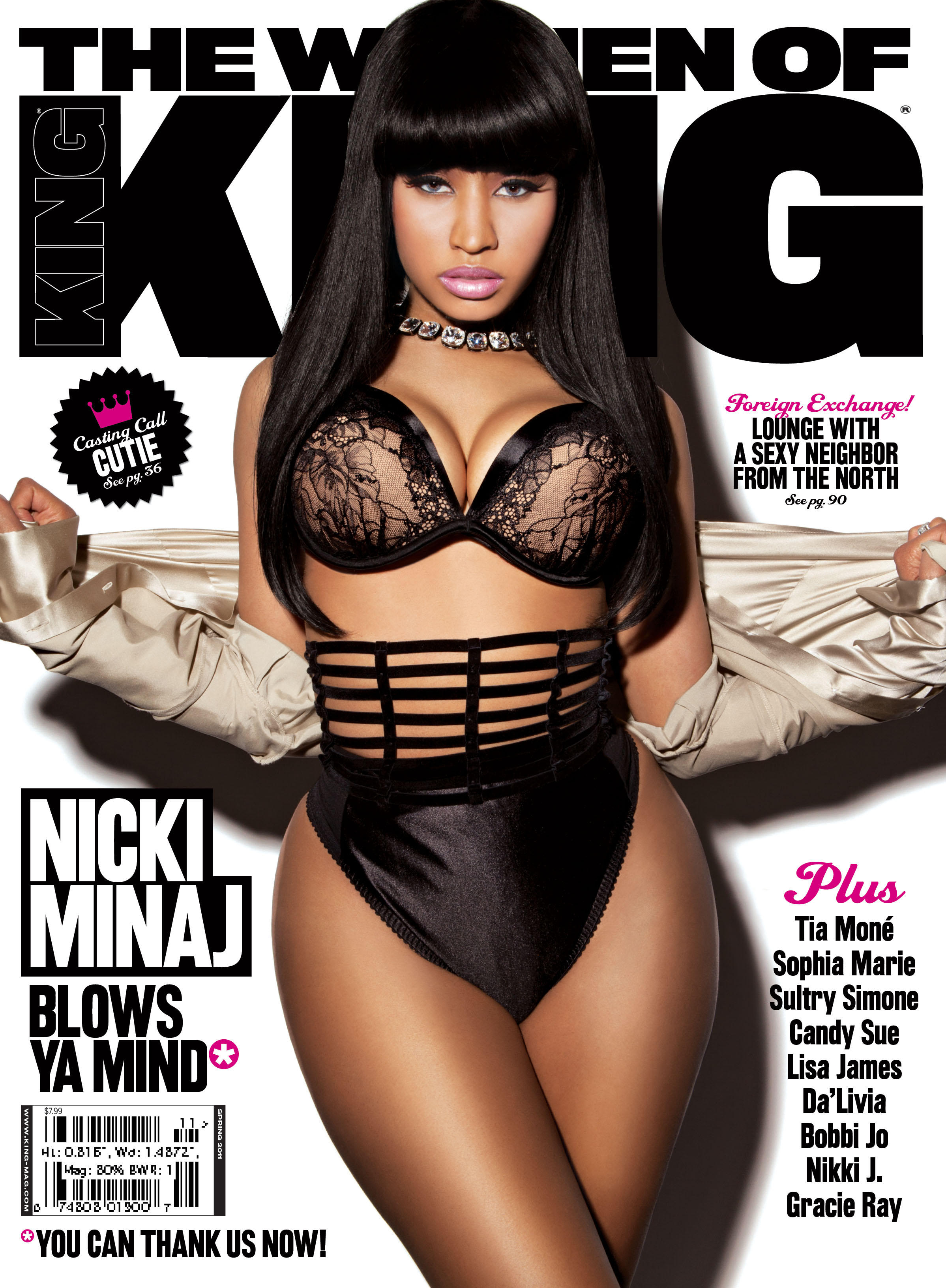 Nicki Minaj is set to appear on the cover of King magazines March/April 2011